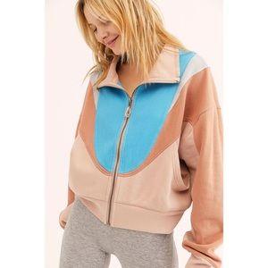 Free People Slip & Slide Zip Up Sweater Jacket
